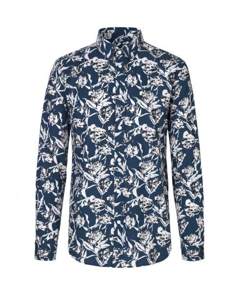 Mørk blå Liam NX skjorte   Samsøe Samsøe   Langermede