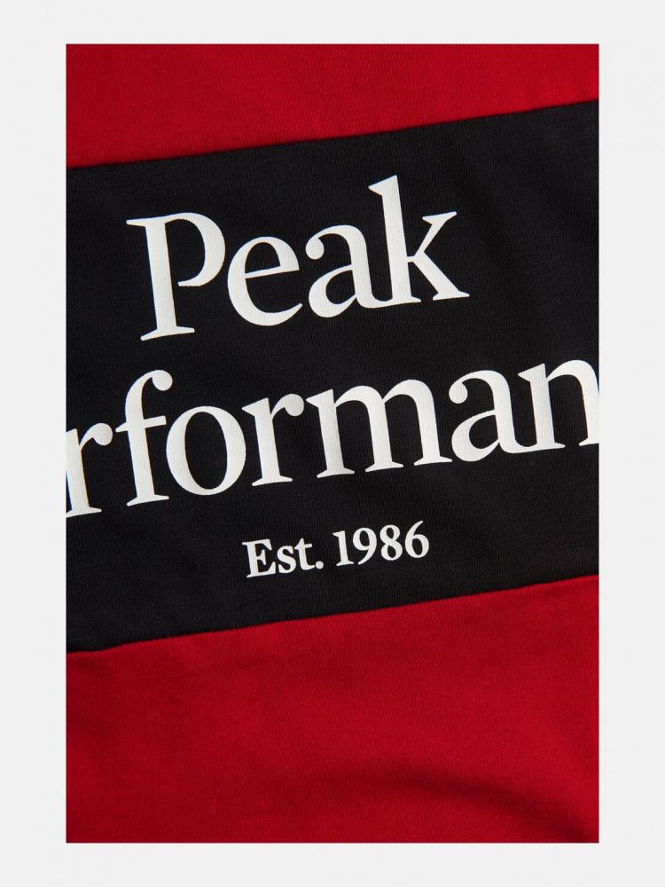 Rød Peak Performance M Original Seasonal t skjorte Agalaust