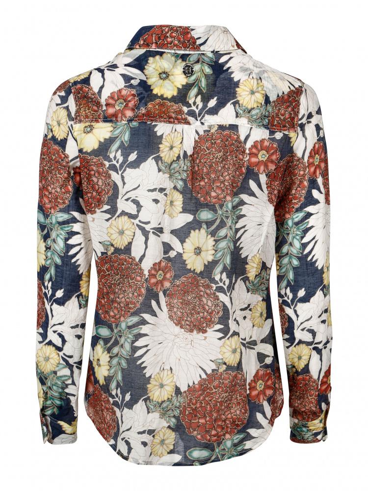 9924c411 Hvit multi Haust Cotton skjorte - Agalaust