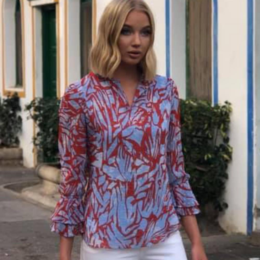 Red Feminin Blouse  Haust Collection  Bluser