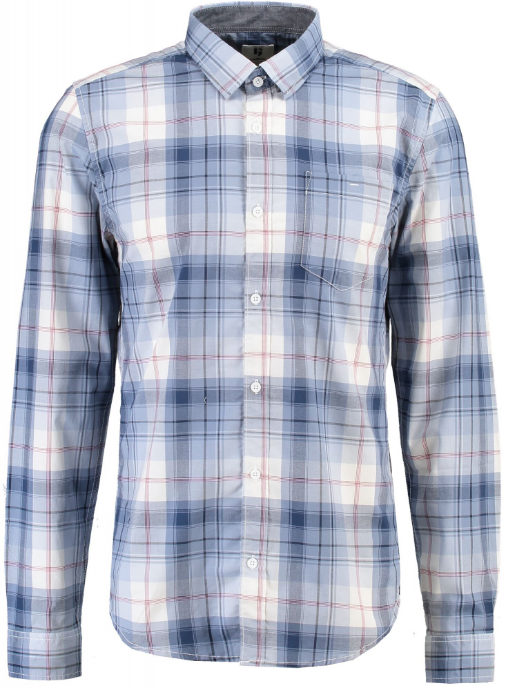 Blå rutete GARCIA PG910804 skjorte Agalaust