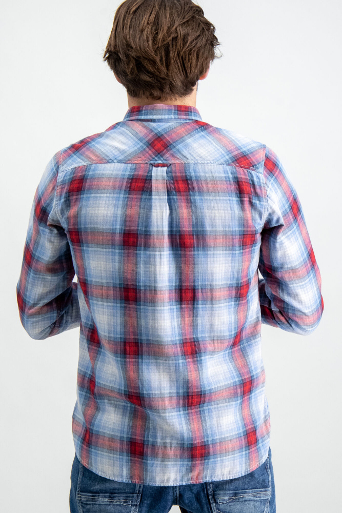 Rød Garcia Rutete skjorte Agalaust